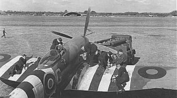 No. 3 Squadron Tempest undergoing maintenance
