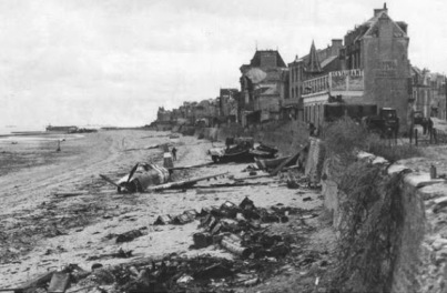 Weese's P-47 on the beach at St Aubin sur Mer close to Juno Beach
